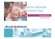 Accor Services Investor Day