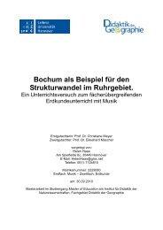 Bochum als Beispiel für den Strukturwandel im Ruhrgebiet.