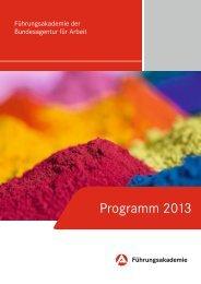 FBA-Programm 2013 - Bundesagentur für Arbeit