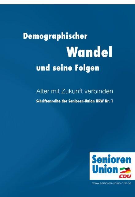 Demographischer Wandel und seine Folgen - Senioren-Union NRW