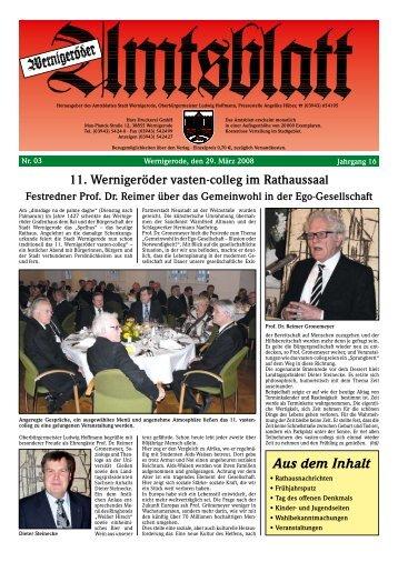 April 2008 - Stadt Wernigerode