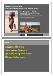Referat R. Weingartner - Forum für Universität und Gesellschaft ...