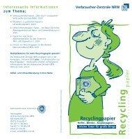 Recycling papier Verbraucher-Zentrale NRW
