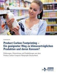 Product Carbon Footprinting – Ein geeigneter Weg zu - Öko-Institut eV