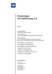 Pressemappe 1&1 MailXchange 2.0 - Presse - 1&1 Internet AG
