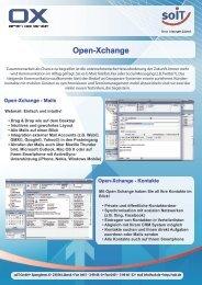Open-Xchange - Kontakte - SoIT