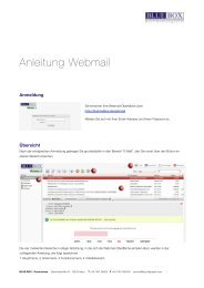 Anleitung Webmail - BLUE BOX - Productions