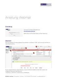 Anleitung Webmail - BLUE BOX - Productions
