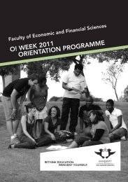 Financial Orient brochure.indd - University of Johannesburg