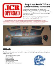 Jeep Cherokee DIY Front Bumper Assembly Instructions - JCR Offroad