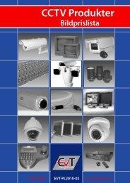 Bildprislista CCTV Produkter - EVT Svenska AB