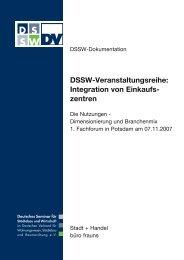 DSSW-Veranstaltungsreihe: Integration von Einkaufs- zentren