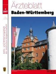 Ärzteblatt Baden-Württemberg Ausgabe 07-2007