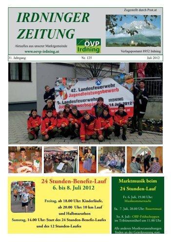 Ausgabe Juli 2012 - Marktgemeinde Irdning
