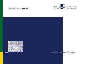 mitglieder verzeichnis 2005 1905-2005 100 jahre tav - Munz, Hans