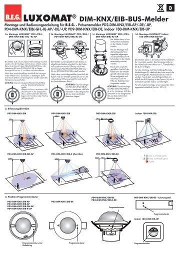B.E.G. LUXOMAT® DIM-KNX/EIB-BUS-Melder 180° - Voltus