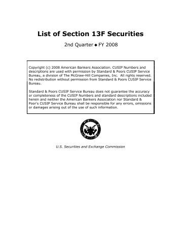 what are section 13f securities - distasubtgump ml