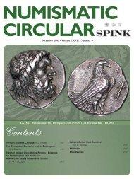 Contents NUMISMAT CIRCULAR - Spink