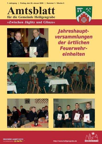 Amtsblatt für die Gemeinde Heiligengrabe »Zwischen Jäglitz und ...