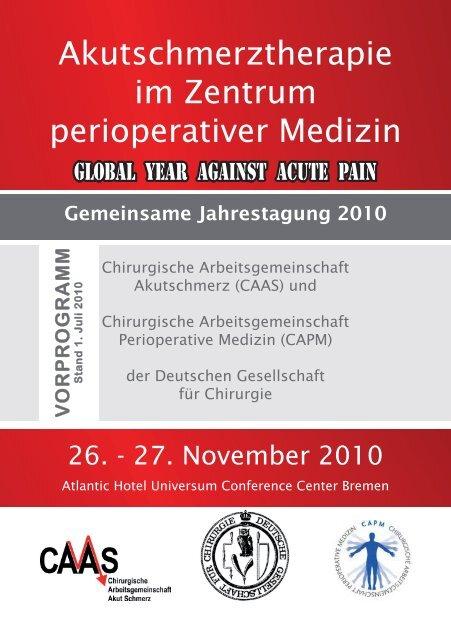 Akutschmerztherapie im Zentrum perioperativer Medizin