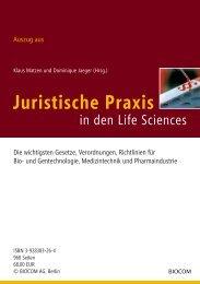 Juristische Praxis - Biotechnologie.de
