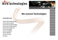Die Firma wireTechnologies Vertriebs GmbH