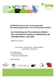 Zur Entwicklung der Personalisierten Medizin – Eine semantische ...