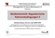 Medizintechnik: Regulatorische Rahmenbedingungen II