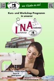 Kurs- und Workshop Programm in unserer - Nähmaschinen Haupt