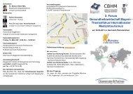 2. Forum Gesundheitswirtschaft Bayern - Themenfokus ...