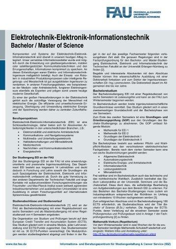 Elektrotechnik-Elektronik-Informationstechnik - Universität Erlangen ...