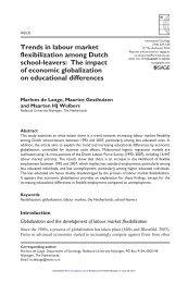 Trends in labour market flexibilization among Dutch school-leavers ...