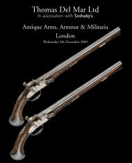 antique arms, armour & militaria - Thomas Del Mar