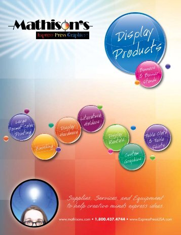 Download our Display Brochure - Mathison's - Express Press Graphics