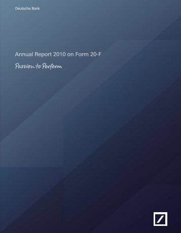 Annual Report 2010 on Form 20-F