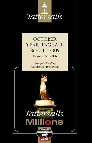 Tattersalls October Yearling Sale Book 1 2009