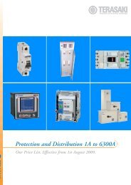 Protection and Distribution 1A to 6300A - Terasaki Electric Co (FE ...
