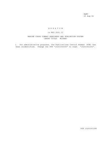 MCO 3501.1C W ERRATUM.pdf - Marine Corps