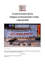 Il costo di essere donna Indagine sul femminicidio in ... - Ristretti.it