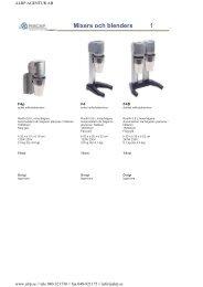 Mixers och blenders 1 - ALRp
