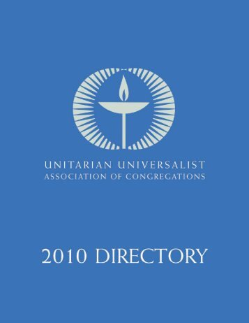 complete 2010 Directory (PDF, 414 pages) - Unitarian Universalist ...