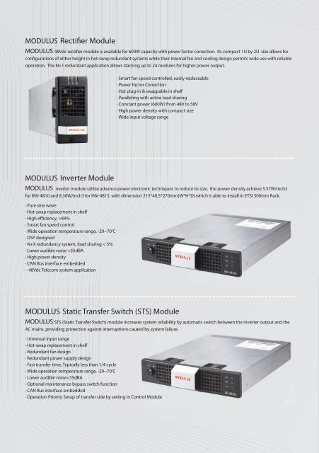 MODULUS - PCE UPS Systems