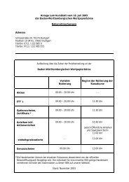 Anlage zum Kursblatt vom 18. Juli 2005 der Baden ... - Börse Stuttgart