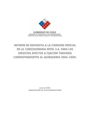 informe de respuesta a la comisión pericial de la concesionaria ...
