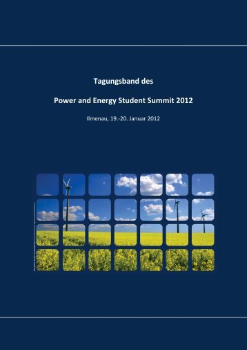 Tagungsband des Power and Energy Student Summit 2012 ...