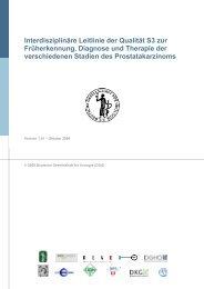 Interdisziplinäre Leitlinie der Qualität S3 zur ... - Urologenportal