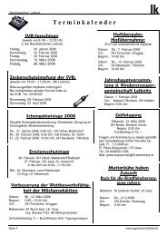 Jahreshauptversamm- lung d. Rindererzeuger- gemeinschaft Leibnitz