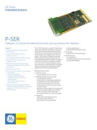 GE Fanuc Embedded Systems GE Fanuc Embedded Systems