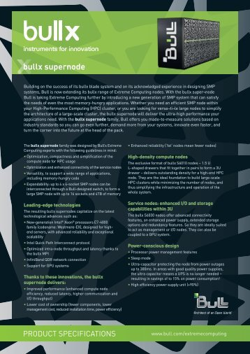 supernode technical specifications - Bull