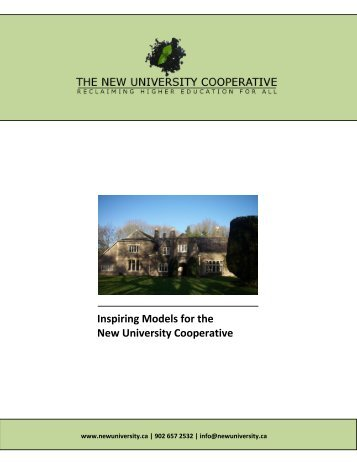 table of contents - New University Cooperative